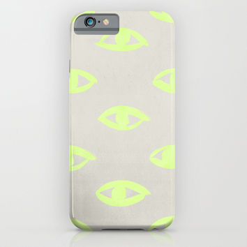 natural neon (eyes) iPhone & iPod Case by LEEMO