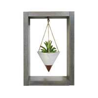 Hanging Planter, Air Planter, Wall Planter, Mini Planter, Succulent Planter, Concrete Planter, White Planter, Modern Planter, Shadow Box