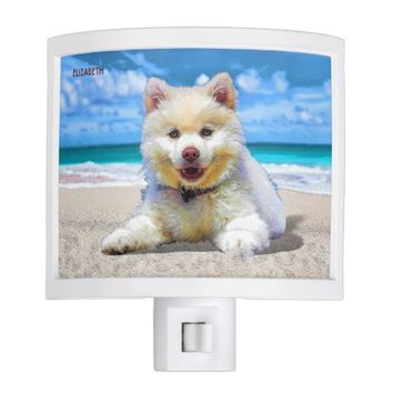 Pretty Adorable Small Puppy Drawing Night Light