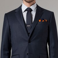 INK FLANNEL THREE-PIECE SUIT
