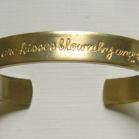 Raw Brass Friends Friendship Etched Sentiments Cuff Bracelet - 1 pc.