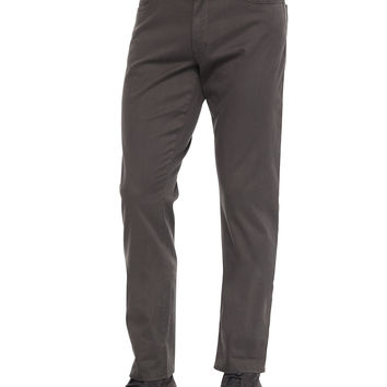 Five-Pocket Stretch-Twill Pants, Dark Gray, Size: 34, DARK GREY - Vince