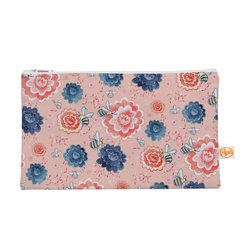 "Nic Squirrell ""Bees Please"" Pink Floral Everything Bag"