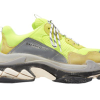 Balenciaga Triple S Neon Yellow (2018 Reissue) Mens Sneakers