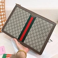 GUCCI New fashion more letter leather couple cosmetic bag file package