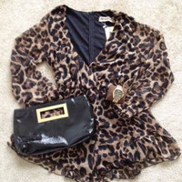 Reverse Out on the Prowl Leopard Romper