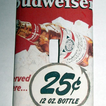 Light Switch Cover - Light Switch Budweiser  Beer Vintage Ad