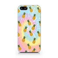 Tie Dye Pineapple iphone 5 Case, iphone 5S Case Plastic Hard Case Unique Design-Quindyshop (NAM47)
