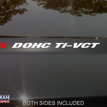 3.7L DOHC Ti-VCT Hood Vinyl Decals Stickers Fit: Ford Mustang Explorer F150 Flex