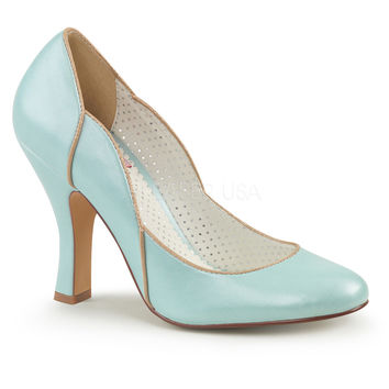 Pin Up Couture Blue Smitten Wavy Retro Pumps