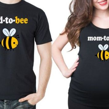 Dad-To-Bee - Mom-To-Bee - Pregnancy/Maternity T-shirt