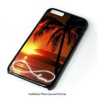 Infinity Love Sunset Beach Design for iPhone and iPod Touch Case