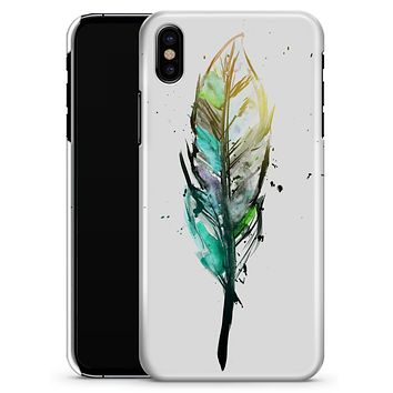 Splatter Watercolor Feather - iPhone X Clipit Case
