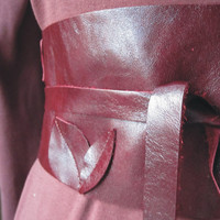 Red Leaves  Leather Obi Belt by TheButterfliesShop on Etsy