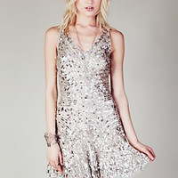 Free People Womens Shimmy Shimmy Party Dress