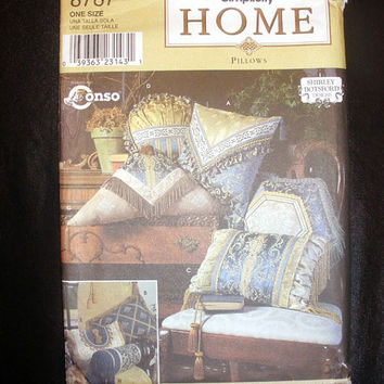 Pattern for Pillows in 8 Styles Simplicity Home 8787 Sewing Pattern Uncut