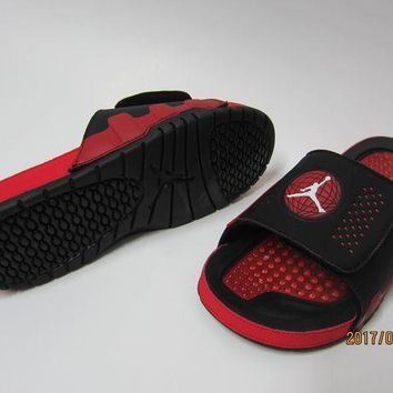 PEAPGE2 Beauty Ticks Nike Jordan Hydro Ix Black/red Sandals Slipper Shoes Size Us 7-13