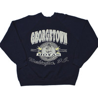 Vintage 1980s Georgetown Hoyas Crewneck Sweatshirt Made in USA Mens Size Medium