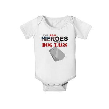 Heroes Dog Tags Baby Romper Bodysuit
