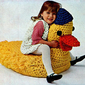 Crochet Pattern lounge chair ride on Duck pillow duck toy toddlers PDF Instant Download stuffed animal pdf baby knitting supplies epsteam