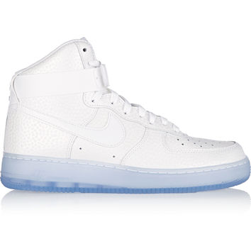 Nike - Air Force 1 Hi Premium coated-twill and leather sneakers