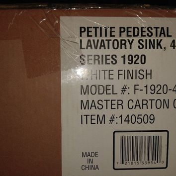 "Foremost Petite Pedestal Lavatory Sink 4"" Centerset (Series 1920)"