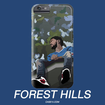 J Cole Dreamville Forest Hills Illustration IPhone / Galaxy Phone Case