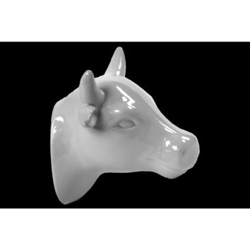 Gloss White Ceramic Cow Head Wall Decor | Overstock.com Shopping - The Best Deals on Accent Pieces