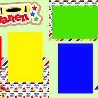 NEW!! 1st day of Kindergarten 2-page 12 X 12 Premade Scrapbook Layout