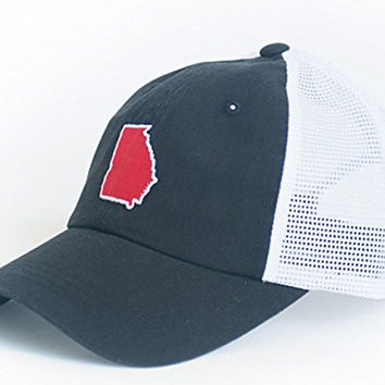 State Traditions Georgia Athens Gameday Trucker Hat-blk