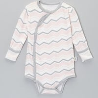 Baby Roo Pink Zigzag Fold-Over Bodysuit   zulily