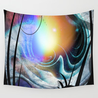 View from Alien Ship Wall Tapestry by Minx267