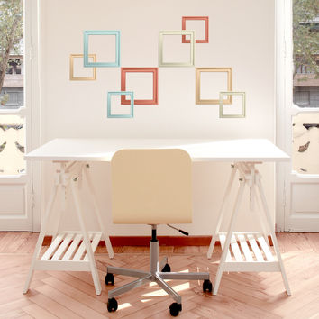 Pastel Frames wall decals