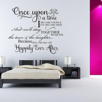 Once Upon A Time I Became Yours Wall Decal