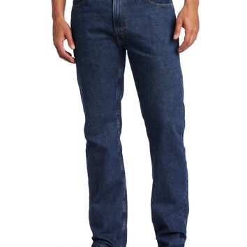 Levi's Men's 505 Regular Fit Jean Dark Stonewash 34W x 32L