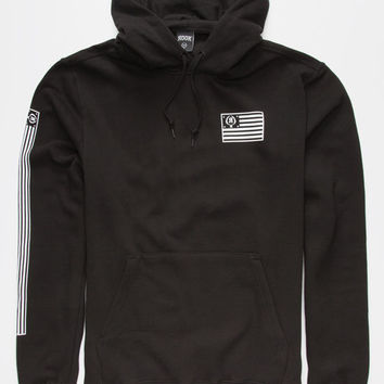 Rook Sickle Flag Mens Hoodie Black  In Sizes