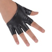 Man-made leather sexy dancer modelling Fashion Half Finger PU Leather Gloves Ladys Fingerless Driving Show Pole Dance