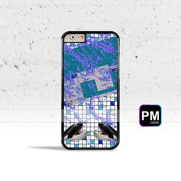 Vaporwave Grid Case Cover for Apple iPhone 4 4s 5 5s 5c 6 6s SE Plus & iPod Touch