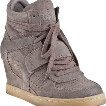 Ash Cool Wedge Sneaker Stone Suede - Jildor Shoes, Since 1949