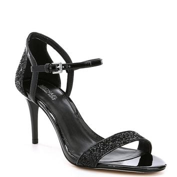 MICHAEL Michael Kors Simone Glitter Patent Leather Dress Sandal | Dillards