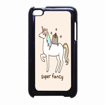 Pusheen Cat With Unicorn FOR IPOD TOUCH 4 CASE *PS*