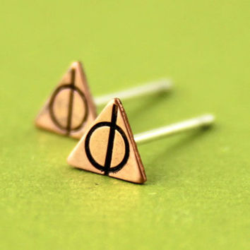 Deathly Hallows Stud Earrings - Harry Potter Stud Earrings