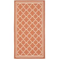 Poolside Terracotta/ Bone Indoor Outdoor Rug (2'7 x 5') | Overstock.com