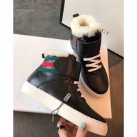 Best Online Sale Gucci Snow Wool Boots Black Short Tube Women Sports Boots