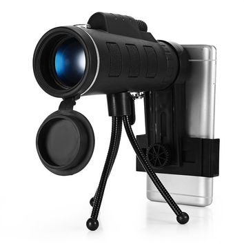 Phone Monocular Telescope HD Mini Phone Clip Tripod