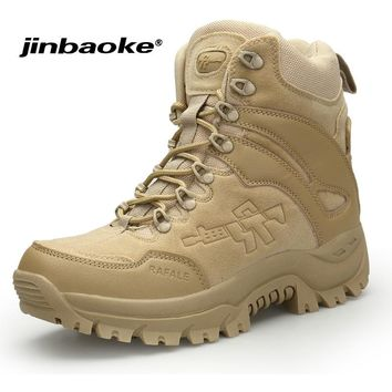 JINBAOKE Special Forces Military Boots Sports Tactical Camping Shoes Men Outdoor Hiking Boots Mountain Non-slip Hunting Shoes