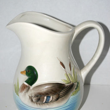 Otagiri duck pitcher mallard duck