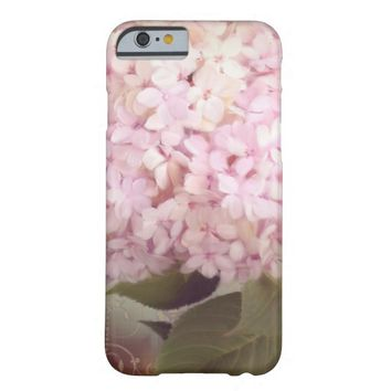 Vintage Style Pink Lavender Hydrangea Oil Pastel Barely There iPhone 6 Case