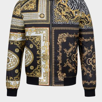 Versace Signature 17 Printed Bomber for Men | US Online Store