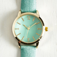 My Time has Come Watch in Turquoise by ModCloth